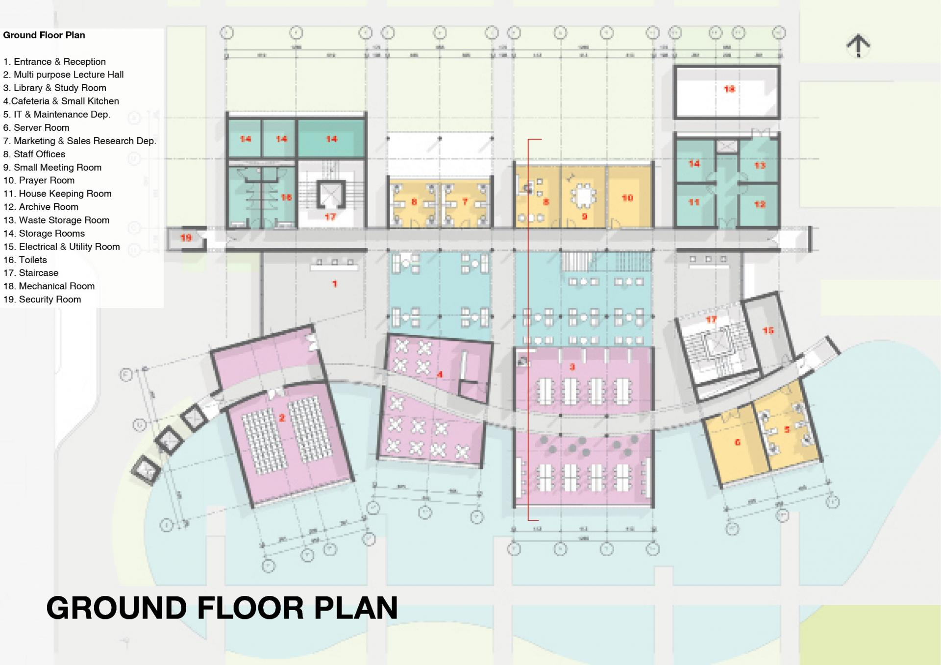 Arab Potash Company - RD&I Center Ground Floor Plan