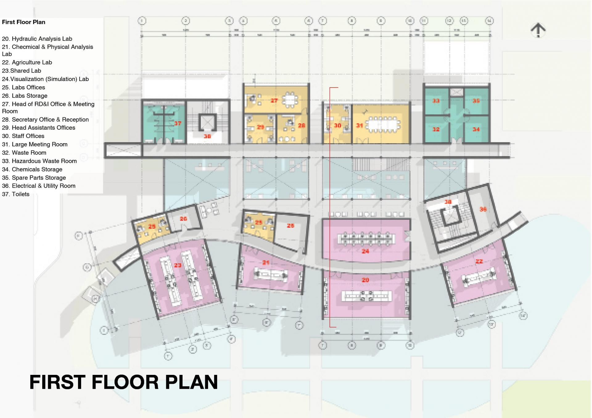 Arab Potash Company - RD&I Center First Floor Plan