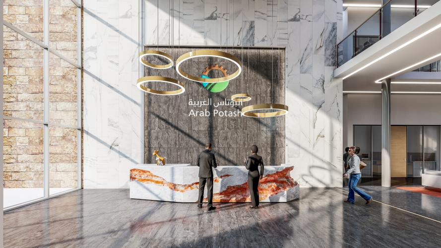 Arab Potash Company - RD&I Center Main Entrance Reception